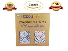 "Organic Muslin Swaddle Blanket | XL Receiving Blankets 47"" x47"" 