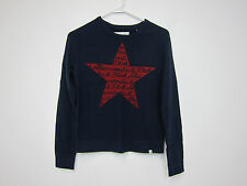 Abercrombie & Fitch Wool Blend Red Star Sweater - Womens XS - Navy - NWT