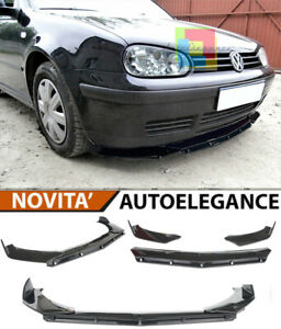VW GOLF 4 IV LIP NERO LUCIDO SOTTO PARAURTI ABS RS DESIGN 3P .-
