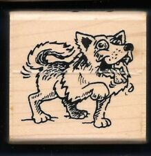 MUSH PUPPY Husky D-2721 DOG SLED Breed Pet ECCENTRICS 1996 Comical RUBBER STAMP