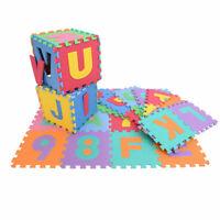36pcs Kid Baby Alphabet/Number Interlocking EVA Foam Mat Play Puzzle Educational