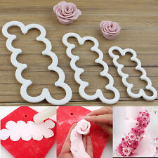 3X Rose Flower Cutter Mold Fondant Cake Baking Maker Decorating Tools Cookie