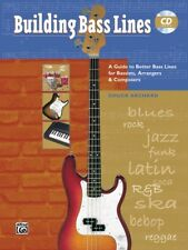 """Building Bass Lines"" Music Book/Cd-Guitar-Instructio nal Method-New On Sale!"