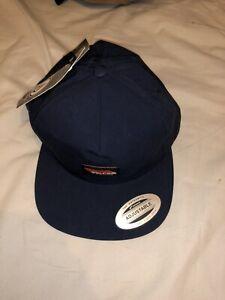 New Volcom Flat Cap Hat Snap Back Blue