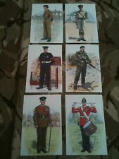 Set x 6 Military Postcards 1st Prince of Wales Regiment Yorkshire by Alix Baker