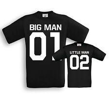 Big + Little Man - Vater / Sohn Partner T-Shirts - Vatertag Papa Eltern Geschenk