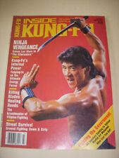 INSIDE KUNG-FU Magazine, MARCH 1986, CONAN LEE - THE ELIMINATORS - PHOTO COVER!