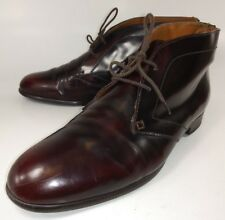 1937 Footwear Womens Boots Oxford Ankle US 9.5 Burgundy Patent Leather Lace 1145