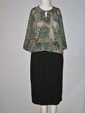 LIZ CLAIBORNE Size S Green 3/4 Sleeve Cami Blouse