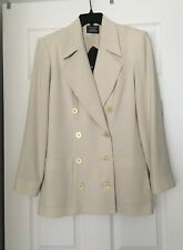NWT Wear Else Beige Fully Lined Blazer (Made in Canada) Size 4