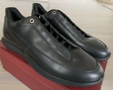 $600 Bally Avier 01 Black Leather Sneakers size US 13 Made in Italy