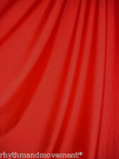 Dance Costume Lycra Fabric Red Shiny Nylon 50cm - 150cm wide