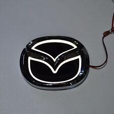 LED 5d White Logo Badge Emblem Light for Mazda 3 5 6 cx-7 10.1х7.9cm 4x3.1in