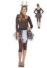 Rehkitz Reh Kostüm Petticoat passender Haarreif Damen Kinder Aqua Schminke