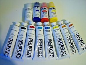 Golden Acrylic Paint Bundle - Part Used Artists Painting