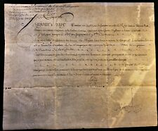 KING LOUIS XV AUTOGRAPH ON MILITARY ORDER IN THE CAVALRY REGIMENT - 1757