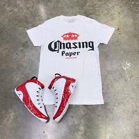 Effectus Clothing Tee to match Jordan Retro 9 Gym Red. Chasing Paper Tee