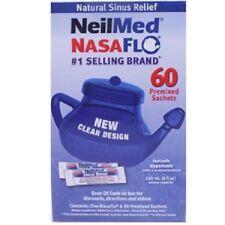 NeilMed NasaFlo Sinus Relief Neti Pot With 60 Sachets