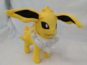 "Comes with a Pin! 10/"" Jolteon Plush Toy Pokemon Plush Toy"