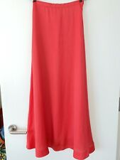 Cacharel Long coral Skirt, Size US 4