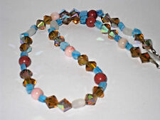 Antique Necklace Multi Color stone Beads 16 inches