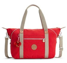 kipling Basic Eyes Wide Open Art Tote Schultertasche Tasche True Red Combo Rot