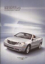 2008 08 Chrysler Sebring Convertible brochure MINT