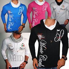 ZAHIDA Jeel Jeans Herren Sweatshirt Langarm Shirt Clubwear Hoodie Longsleeve NEU