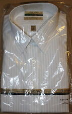 NWT Gold Label Roundtree & Yorke Fitted Non Iron Striped Dress Shirt 16/34 16-34