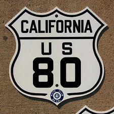 California ACSC US route 80 highway road sign auto club AAA San Diego Yuma
