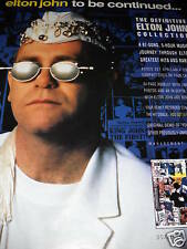 ELTON JOHN 1990 promo poster ad from TO BE CONTINUED