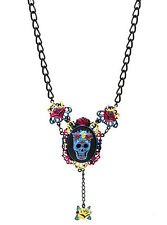 Tattoo Cameo Sugar Skull Day Of The Dead Necklace Punk Mourning Pinup Too Fast