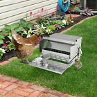 Automatic 25lb Chicken Feeder Galvanized Steel Poultry Feeders, 25 Lbs of Feeds