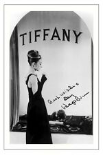 AUDREY HEPBURN BREAKFAST AT TIFFANY'S SIGNED PHOTO PRINT AUTOGRAPH