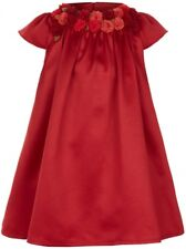 Monsoon, red satin party occassion dress, size 3-6 months, BNWT