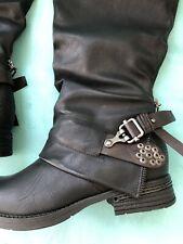 Women's Patrizia Zennys Black Tall Boots Sz 9 New In Box