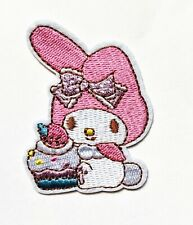 "1.7"" x 2.6"" Hello Kitty My Melody cupcake Embroidered Iron/Sew On Applique Patch"