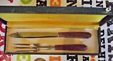 Ancien couvert de service à Viande Gigot Boeuf Fourchette Couteau de style