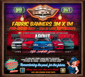 IN STOCK LIMITED NUMBERS  40 YEARS OF KING COMMODORES 3mx1m  FABRIC BANNER
