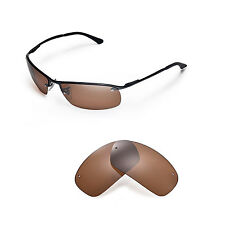 New Walleva Polarized Brown Replacement For Ray-Ban RB3183 63mm