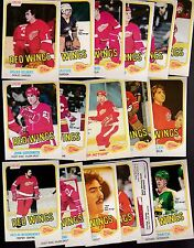 1981 - 82 OPC Team SET Lot of 17 Detroit RED WINGS NM+ o-pee-chee OGRODNICK