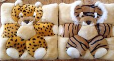 Lot Of 2 Pillows Tiger And Leopard For Nursery Or Kids Room