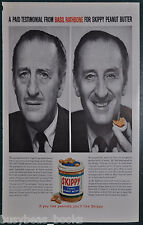 1960 SKIPPY PEANUT BUTTER advertisement, with actor BASIL RATHBONE