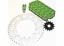 KAWASAKI 1995-06 KDX200 / 97-05 KDX220 GREEN O RING CHAIN & SPROCKET 13/47 110L