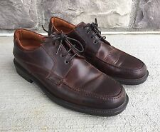 Johnston & Murphy 20-7104 Men's Brown Moc Toe Leather Lace Up Shoe - Size 9 M