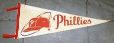 Vintage 1950's Philadelphia Phillies Souvenir MLB Baseball Felt Pennant