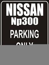 Parkplatzschild 32x24 cm schwarz - Nissan np300