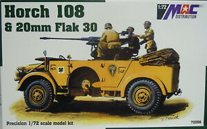 Horch 108 With 0 25/32in Flak 30, MAC , 1:72, Plastic, New