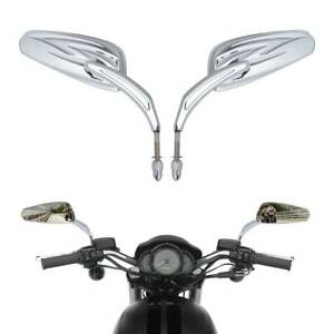 Tapered Tribal Rear View Mirrors Fit For Harley Glide Dyna Softail Tri 883 1200