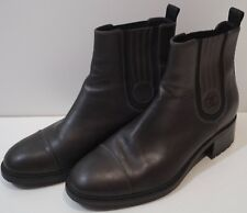 CHANEL Charcoal Black Chelsea Ankle Boots As Seen On Kylie Jenner EU40.5 UK7.5